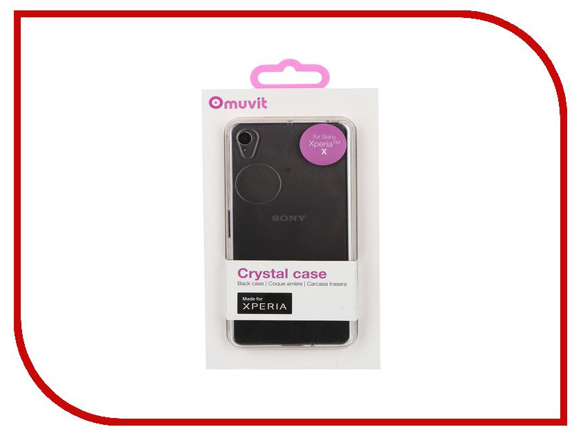 Аксессуар Чехол Sony Xperia X Muvit MFX Crystal Case Transparent SECRY0004<br>