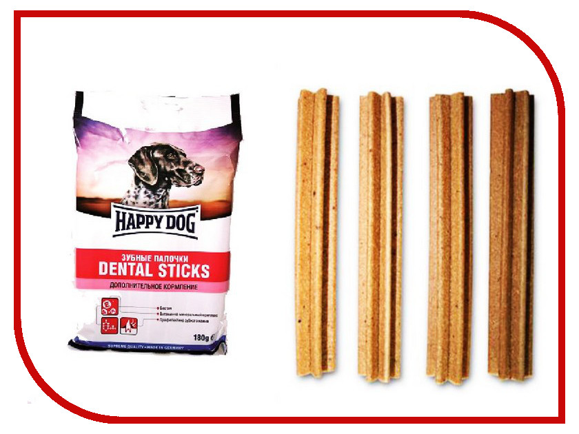 Корм Happy Dog Зубные палочки 180g 190104<br>