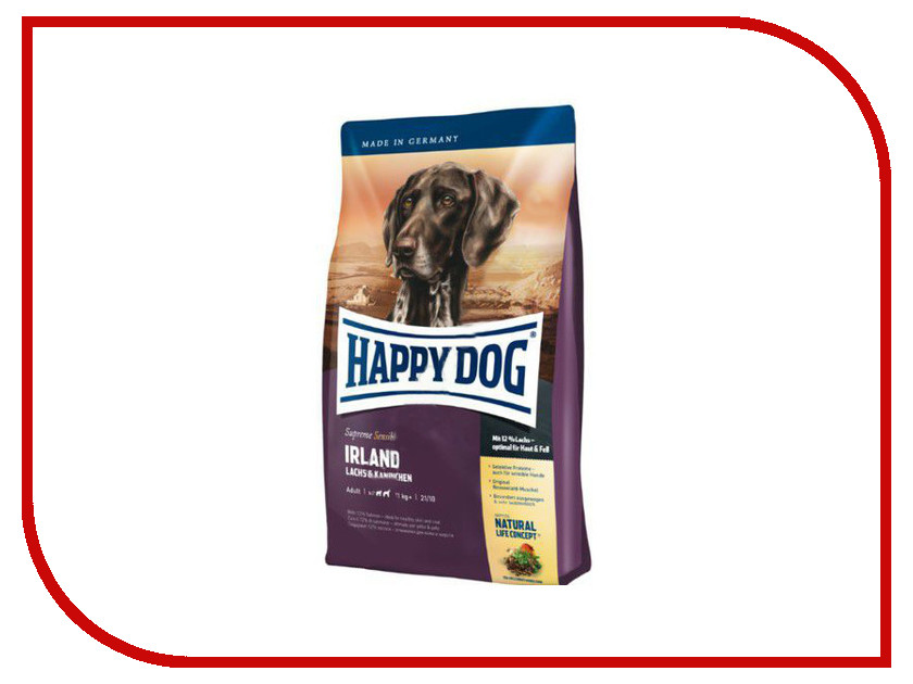 Корм Happy Dog Лосось/Кролик 1kg 03552/4112<br>