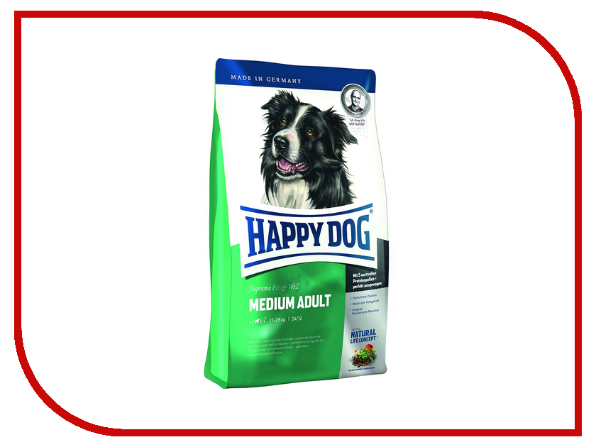 Корм Happy Dog Adult Medium Баранина 1kg 60009/5645