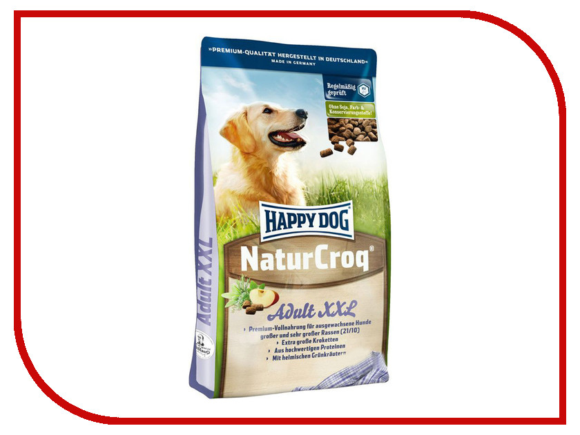 Корм Happy Dog НатурКрок XXL 15kg 02567/4311 для собак крупных пород<br>
