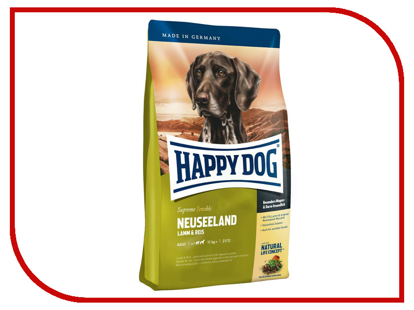 Корм Happy Dog Ягненок/Рис 4kg 03533<br>