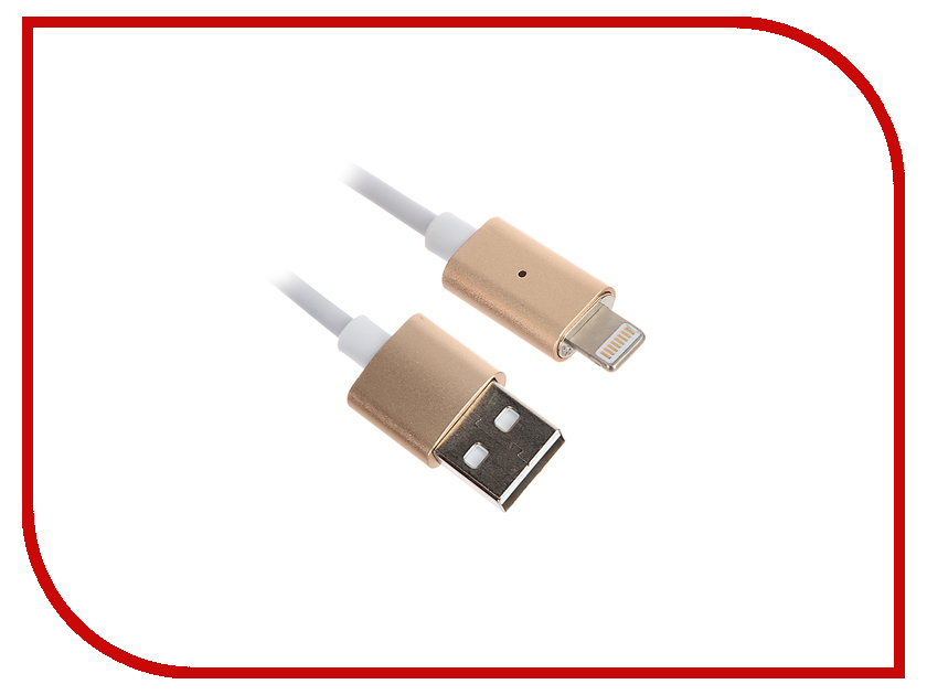 Аксессуар Activ USB - Lightning Magnetic 100cm Gold 58475