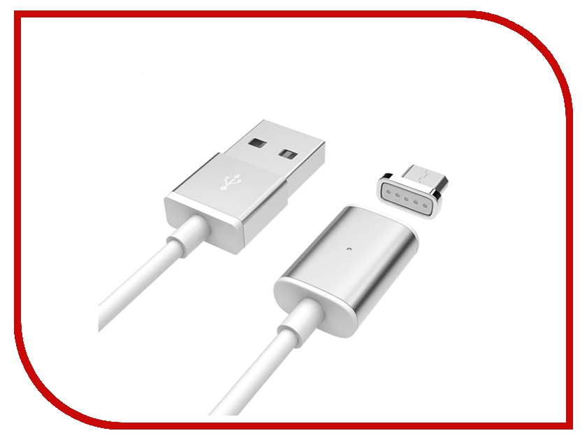 Аксессуар Activ USB - Micro Magnetic 100cm Silver 58471<br>