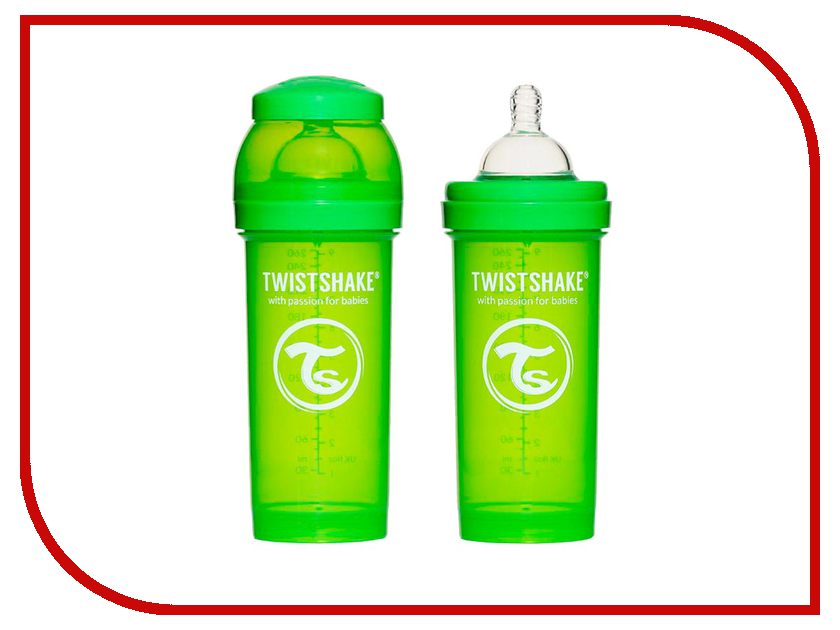 Бутылочка Twistshake 260ml Green 780010<br>