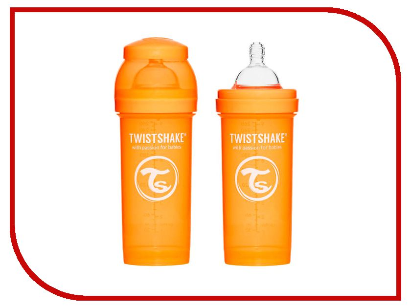 Бутылочка Twistshake 260ml Orange 780009