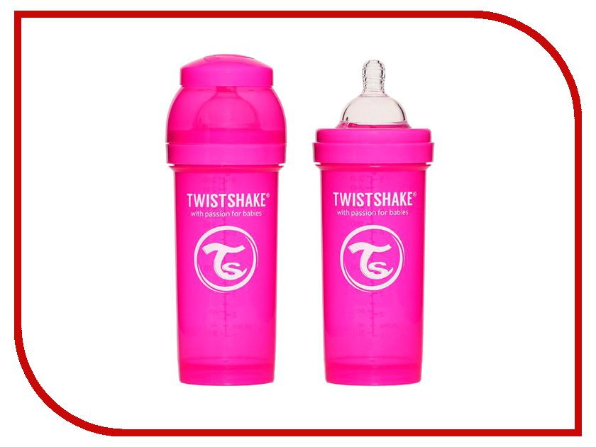 Бутылочка Twistshake 260ml Pink 780007