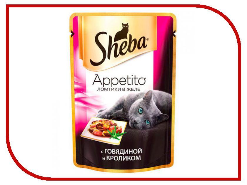 Корм Sheba Appetito Говядина/Кролик 85g для кошек 10139812