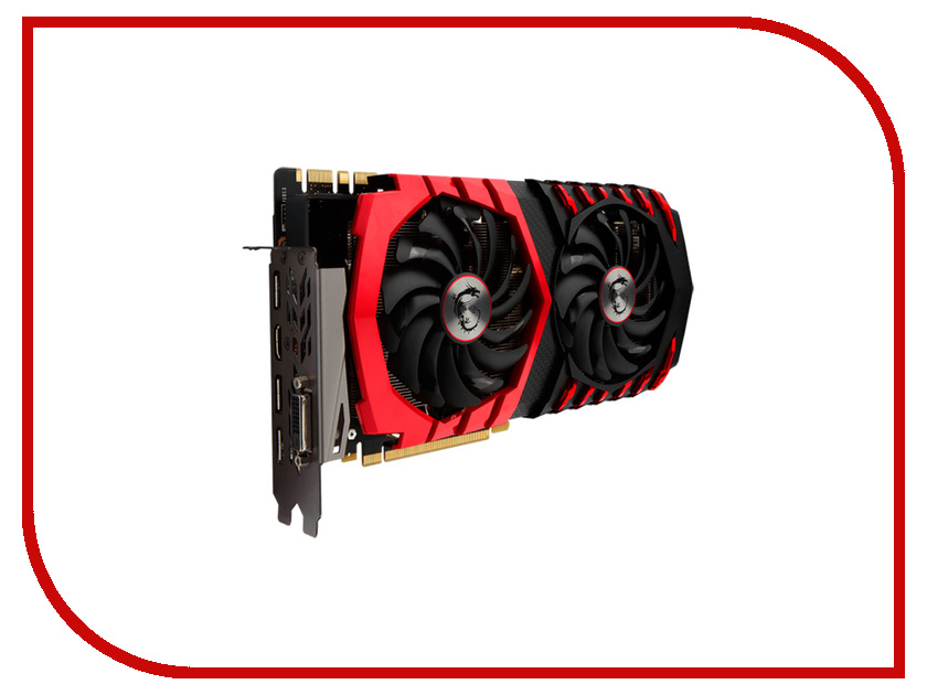 Видеокарта MSI GeForce GTX 1080 1708Mhz PCI-E 3.0 8192Mb 10108Mhz 256 bit DVI HDMI HDCP GTX 1080 GAMING X 8G 912-V336-001<br>