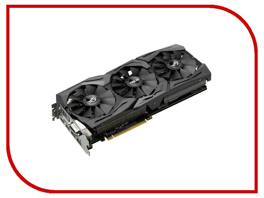 Видеокарта ASUS GeForce GTX 1070 1657Mhz PCI-E 3.0 8192Mb 8000Mhz 256 bit DVI 2xHDMI HDCP STRIX-GTX1070-O8G-GAMING 577ns bs