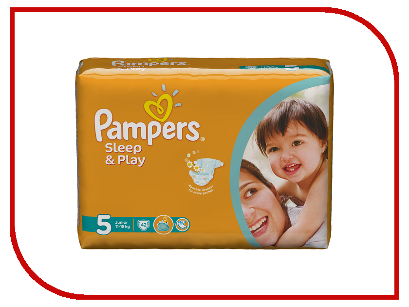 Подгузники Pampers Sleep &amp; Play Junior 11-18кг 42шт 4015400224068<br>