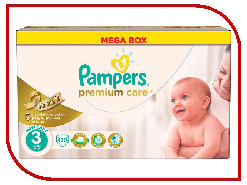 Подгузники Pampers Premium Care Midi 5-9кг 120шт 4015400465461<br>