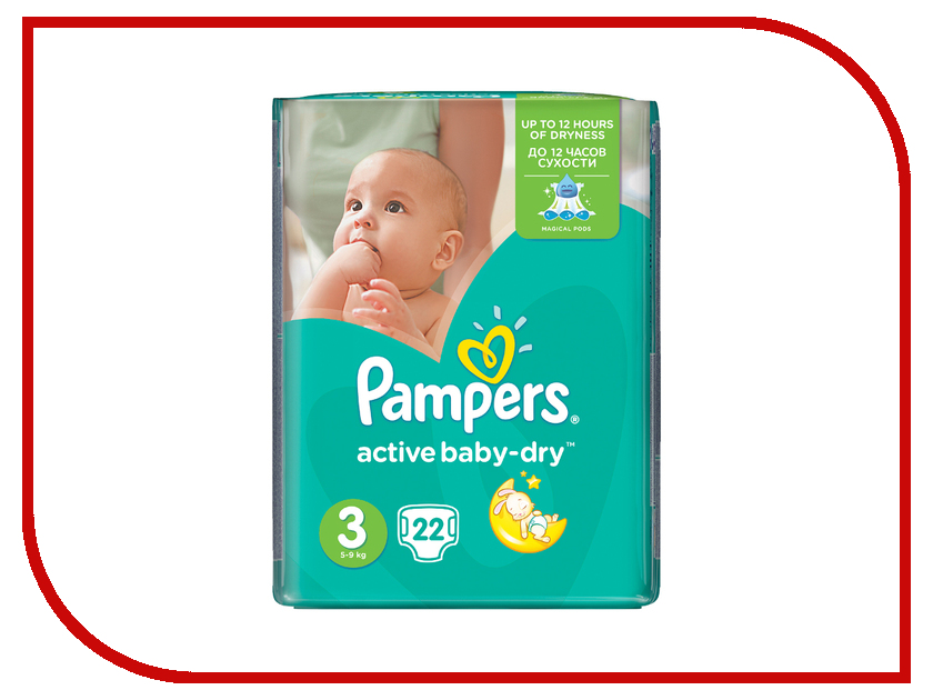 Подгузники Pampers Active Baby-Dry Midi 5-9кг 22шт 4015600001674