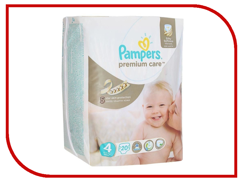 Подгузники Pampers Premium Care Maxi 8-14кг 20шт 4015400740698