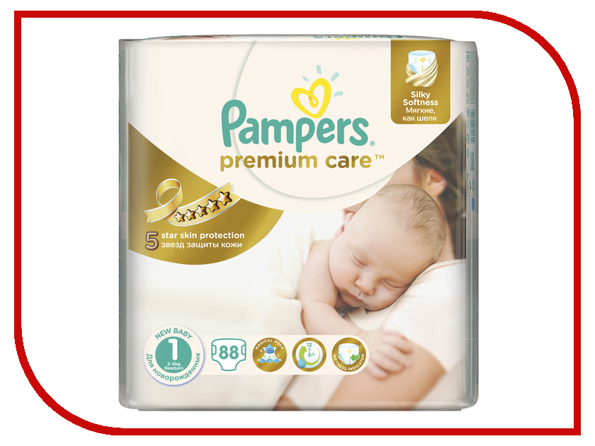 Подгузники Pampers Premium Care Newborn 2-5кг 88шт 4015400741602<br>