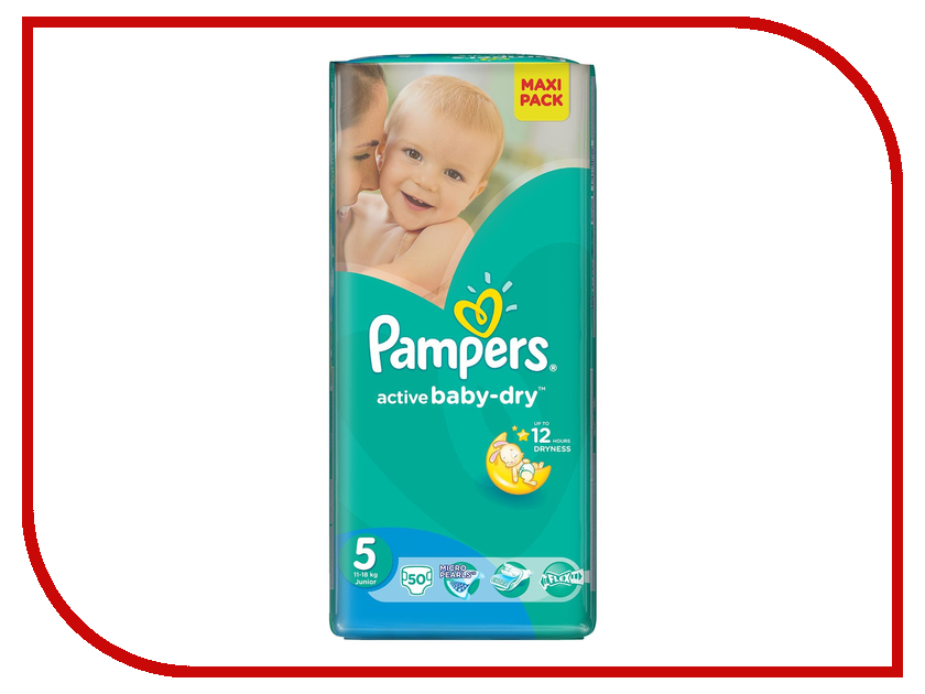 Подгузники Pampers Active Baby-Dry Junior 11-18кг 50шт 4015400736073<br>
