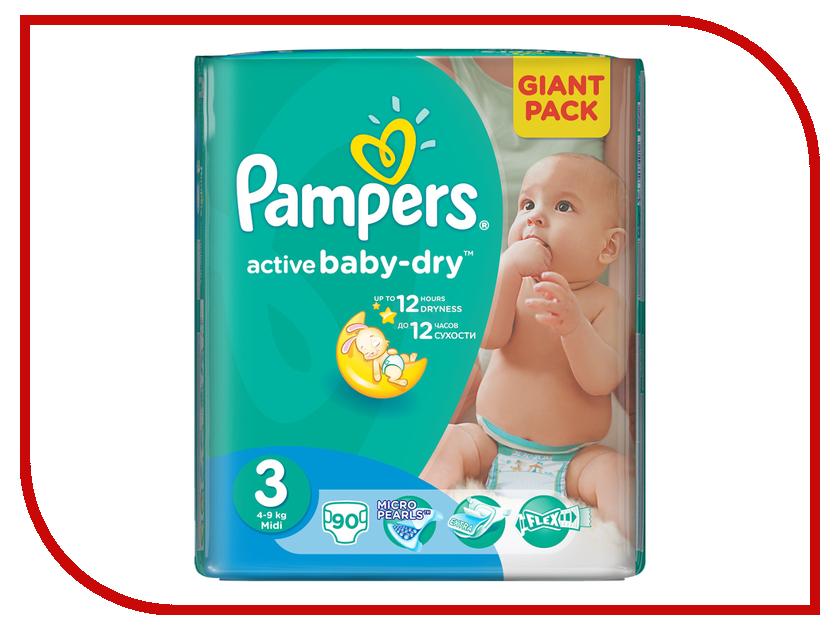 Подгузники Pampers Active Baby-Dry Midi 5-9кг 90шт 4015400736226<br>