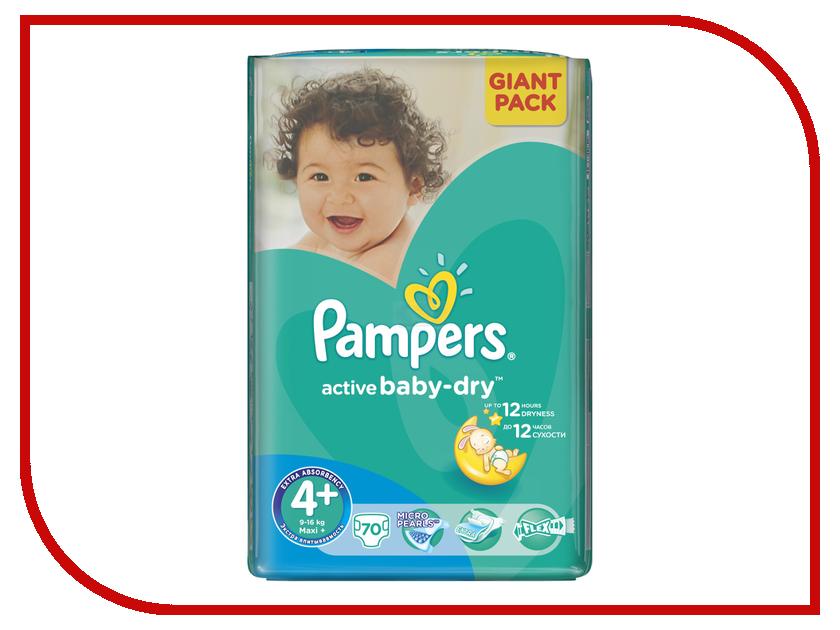 Подгузники Pampers Active Baby-Dry Maxi+ 9-16кг 70шт 4015400736325<br>