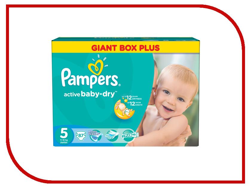 Подгузники Pampers Active Baby-Dry Junior 11-18кг 87шт 4015400737353<br>