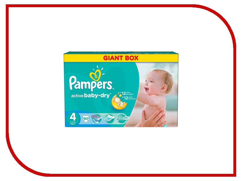 Подгузники Pampers Active Baby-Dry Maxi 7-14кг 90шт 4015400737070<br>