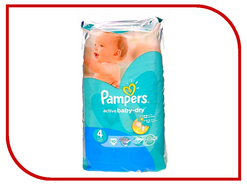 Подгузники Pampers Active Baby-Dry Maxi 7-14кг 10шт 4015400815341