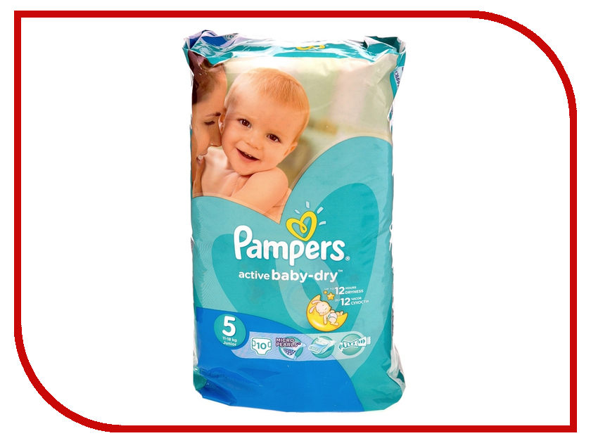 Подгузники Pampers Active Baby-Dry Junior 11-18кг 10шт 4015400815464<br>