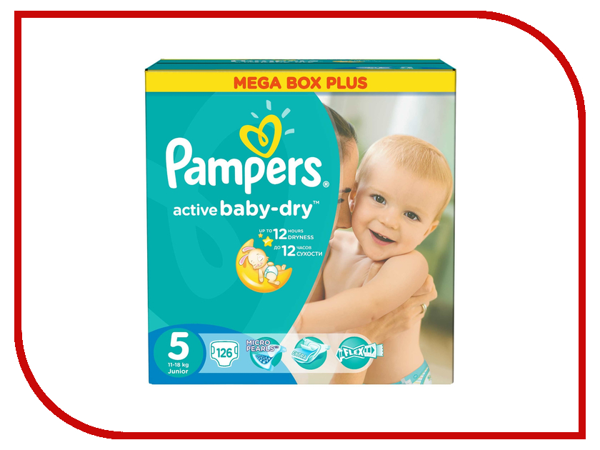 ���������� Pampers Active Baby-Dry Junior 11-18�� 126�� 4015400737636