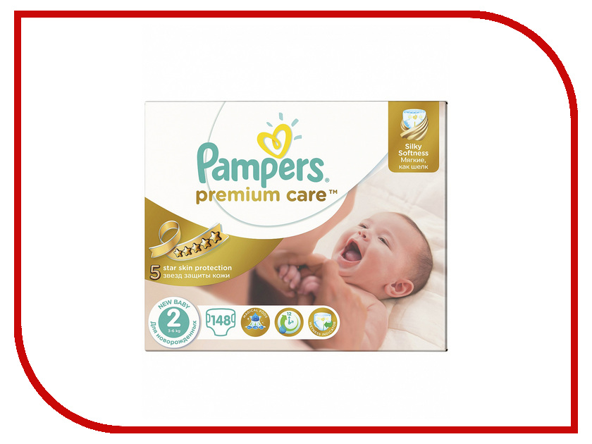 Подгузники Pampers Premium Care 3-6кг 148шт 4015400770275<br>