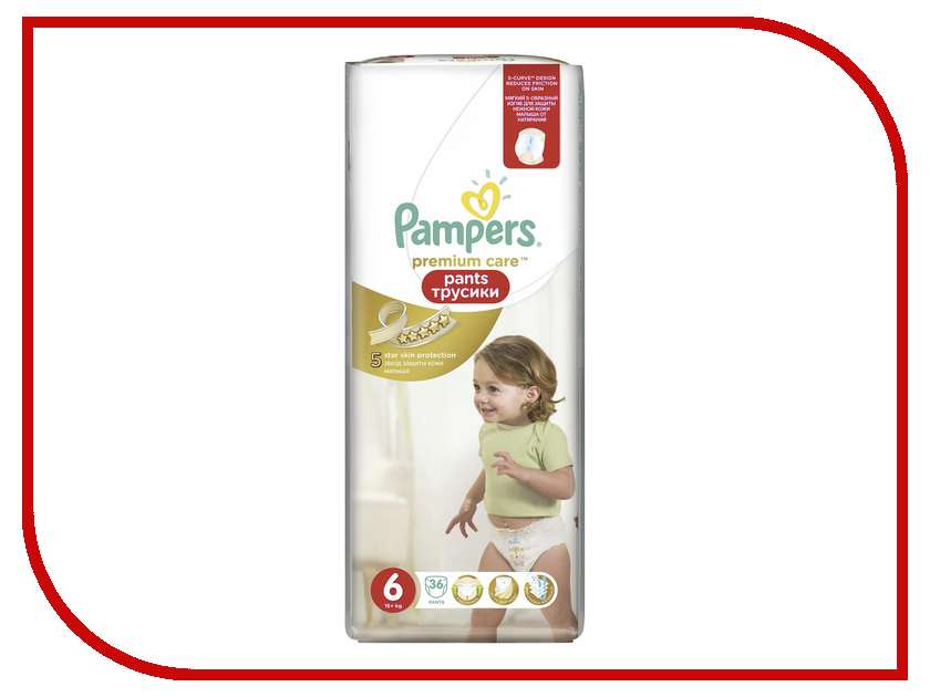 Подгузники Pampers Premium Care Pants Extra Large 16+кг 36шт 4015400772187<br>