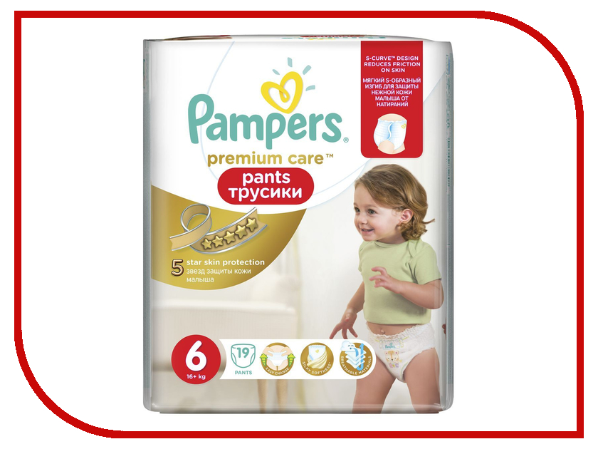 Подгузники Pampers Premium Care Pants Extra Large 16+кг 19шт 4015400771807<br>