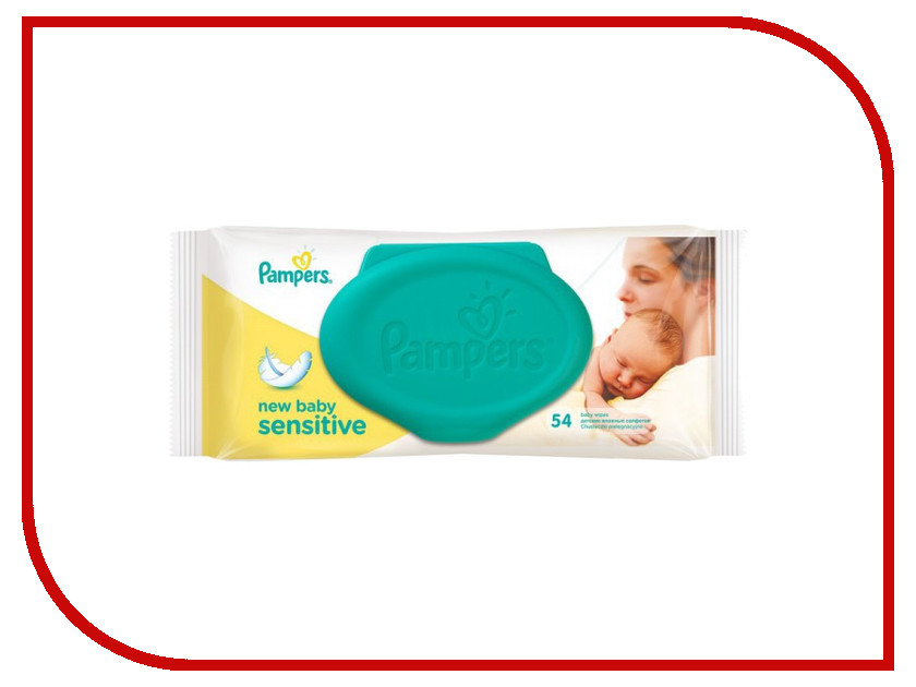 Салфетки Pampers New Baby Sensitive 54шт 4015400686101<br>