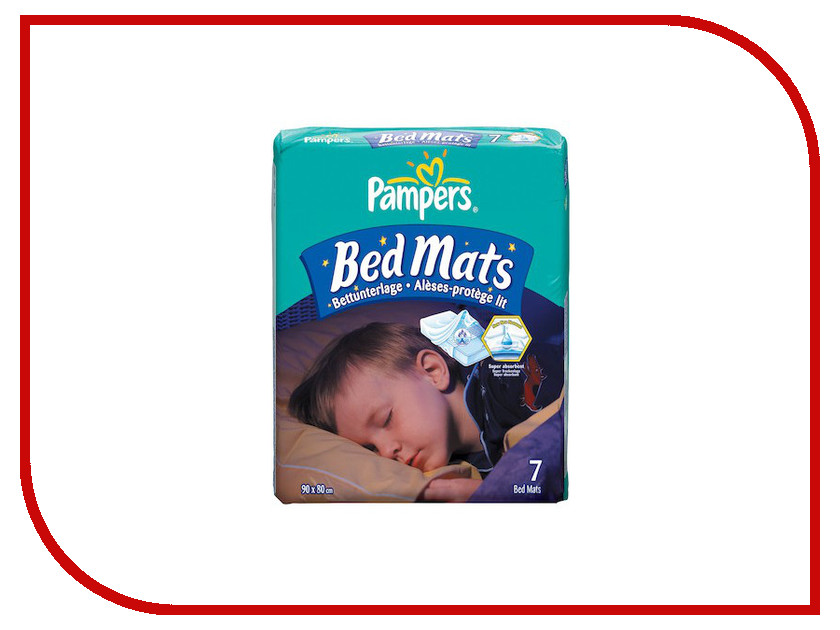 Пеленки Pampers BedMats 90х80см 7шт 4015400333449