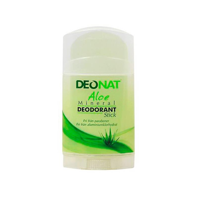 Дезодорант DeoNat кристалл 100г с травами и соком Алоэ овальный