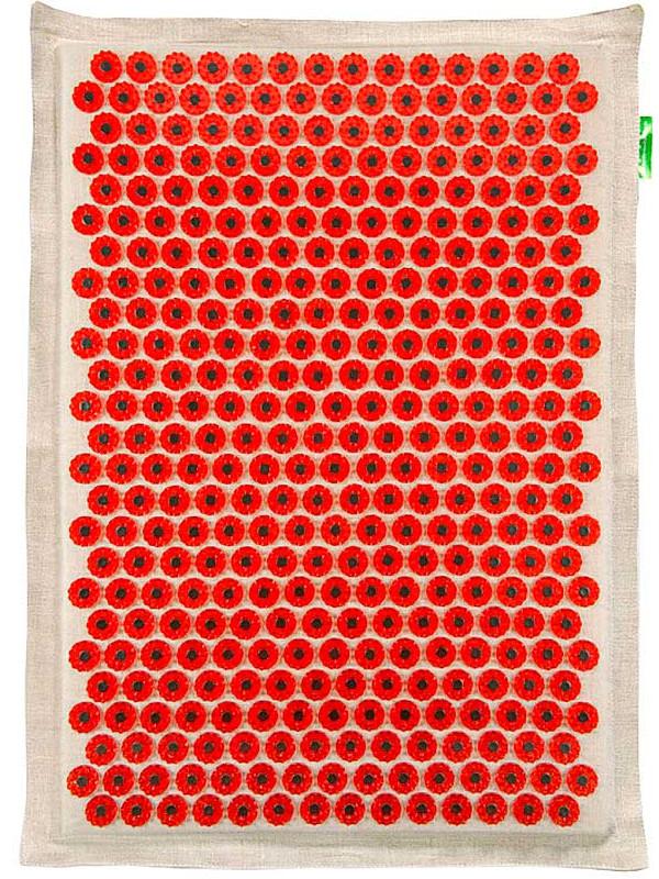 Аппликатор Тибетский аппликатор Кузнецова на мягкой подложке большой для чувствительной кожи магнитный 41х60см Red тибетский язык в тексте 37 практик бодхисаттвы