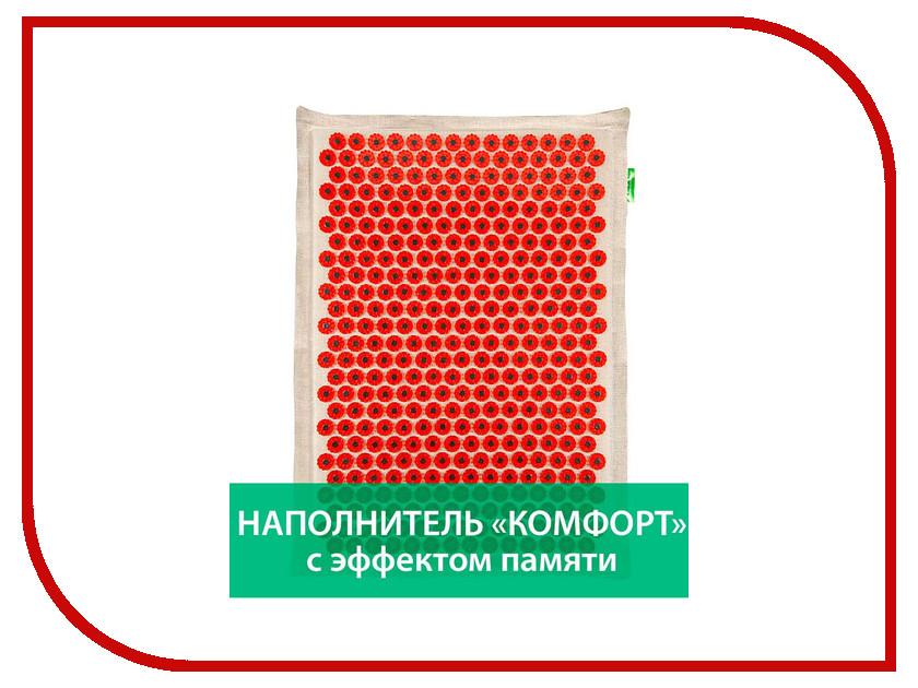 Аппликатор Тибетский аппликатор Комфорт с эффектом памяти на мягкой подложке большой для чувствительной кожи магнитный Red<br>
