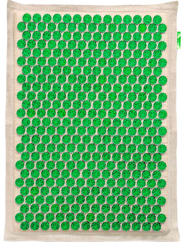 Массажер Тибетский аппликатор Кузнецова на мягкой подложке большой для чувствительной кожи 41х60см Green