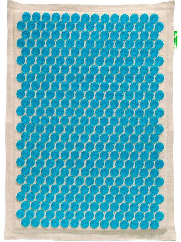Массажер Тибетский аппликатор Кузнецова на мягкой подложке большой для интенсивного воздействия 41х60см Blue
