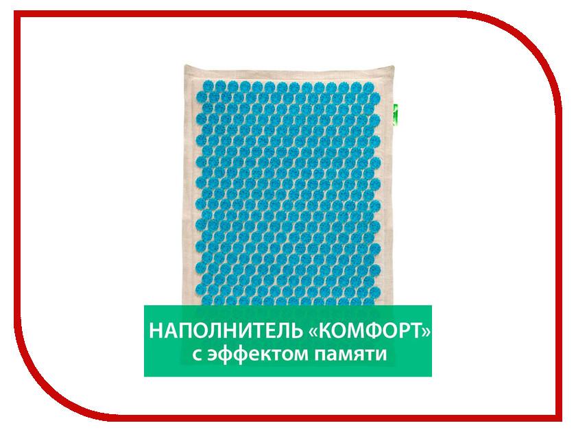 Массажер Тибетский аппликатор Комфорт с эффектом памяти на мягкой подложке большой для интенсивного воздействия Blue