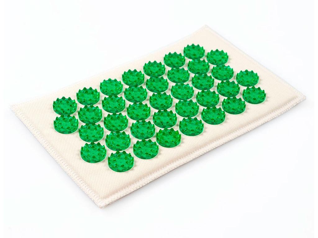 Аппликатор Тибетский аппликатор Кузнецова на мягкой подложке малый для чувствительной кожи 12х22см Green