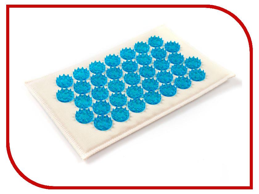 Массажер Тибетский аппликатор Кузнецова на мягкой подложке малый для интенсивного воздействия Blue