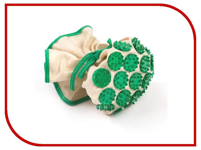 Массажер Тибетский аппликатор Кузнецова Массажный мешочек Юлии Столяровой с менее острыми иглами Green