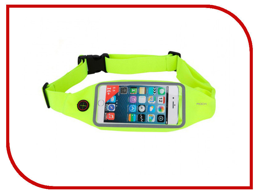 Аксессуар ROCK Universal Running Belt Green<br>
