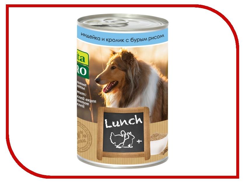Корм VITA PRO LUNCH Индейка/Кролик/Рис 400g для собак 90066<br>