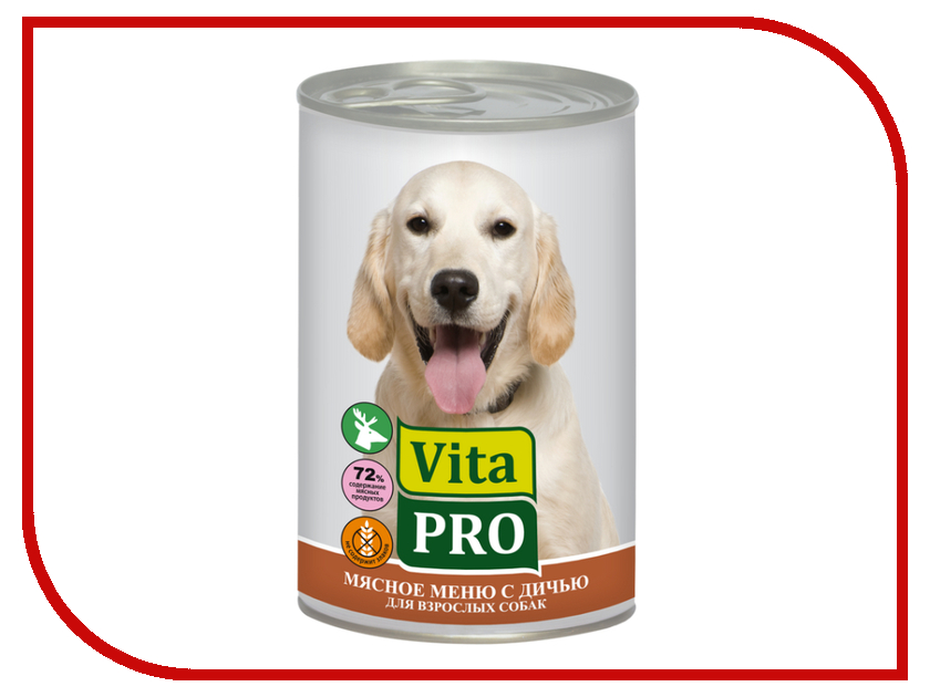 Корм VITA PRO Дичь 400g для собак 90016<br>