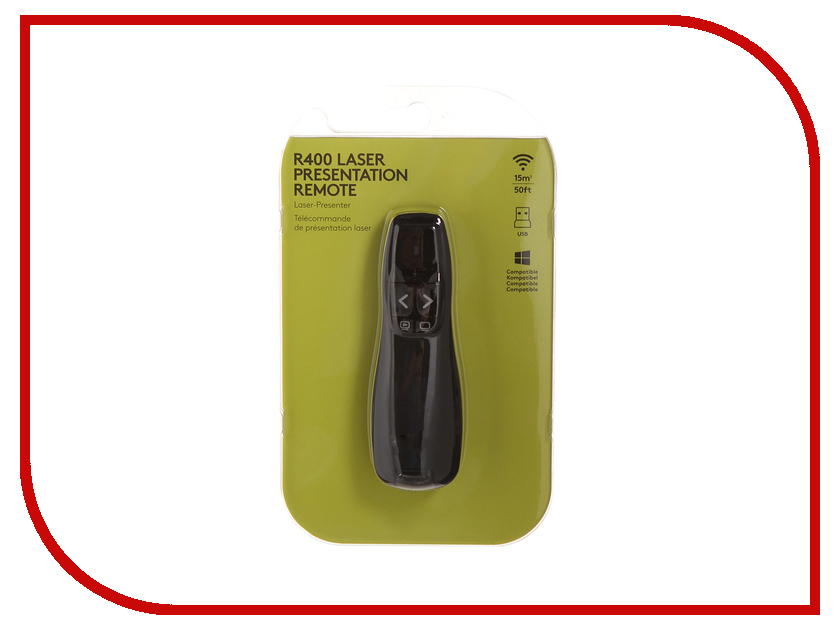 все цены на Презентер Logitech Wireless Presenter R400 Black USB