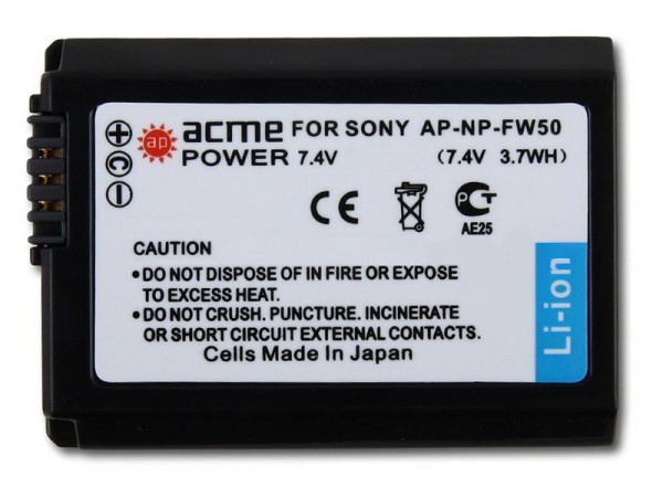 Аккумулятор AcmePower NP-FW50 (схожий с Sony NP-FW50) digiyalbo hot sale 1pcs battery np f550 np f330 np f550 np f330 rechargeable camera battery for sony gv d200 d800 digital camera