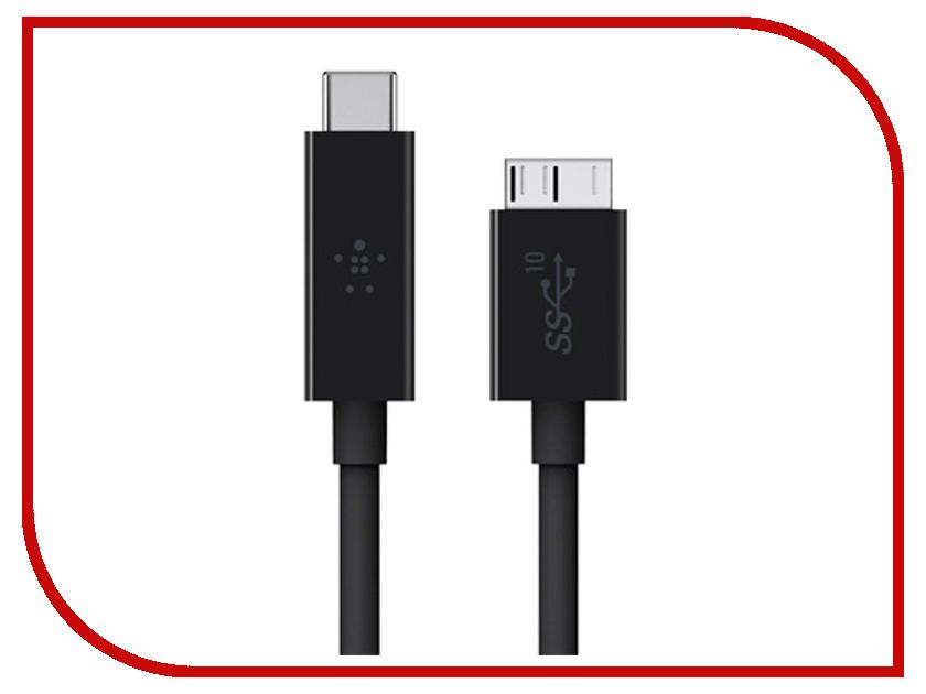 Аксессуар Belkin 3.1 USB-C to micro-B Cable F2CU031bt1M-BLK<br>