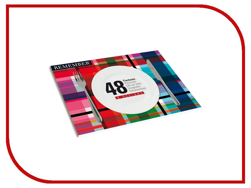 Набор Remember Mix 48 сервировочных ковриков SB02 блендер мулинекс mix go lm1aod10
