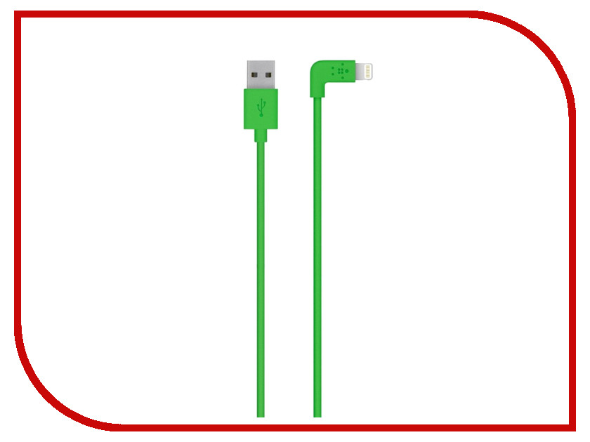 Аксессуар Belkin Mixit 90 Lightning to USB Cable 1.2m Green F8J147bt04-GRN<br>