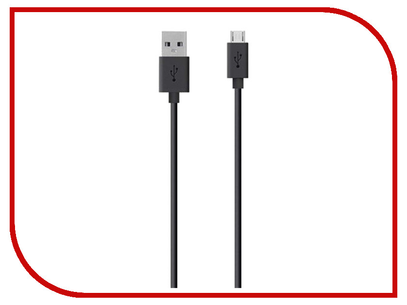 Аксессуар Belkin USB to Micro USB Cable 2.0m Black F2CU012bt2M-BLK